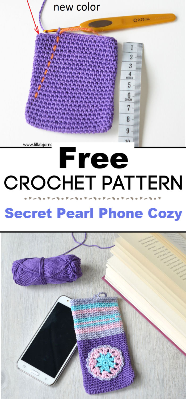 Secret Pearl Phone Cozy Free Pattern