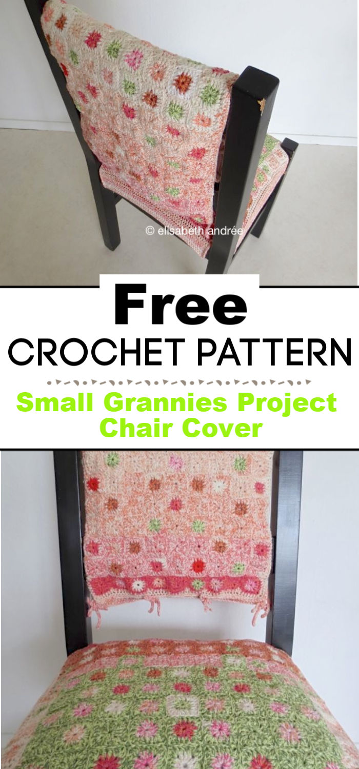 Small Grannies Project Chair Cover