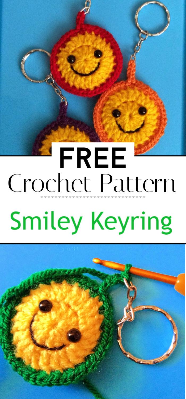 Smiley Keyring Pattern