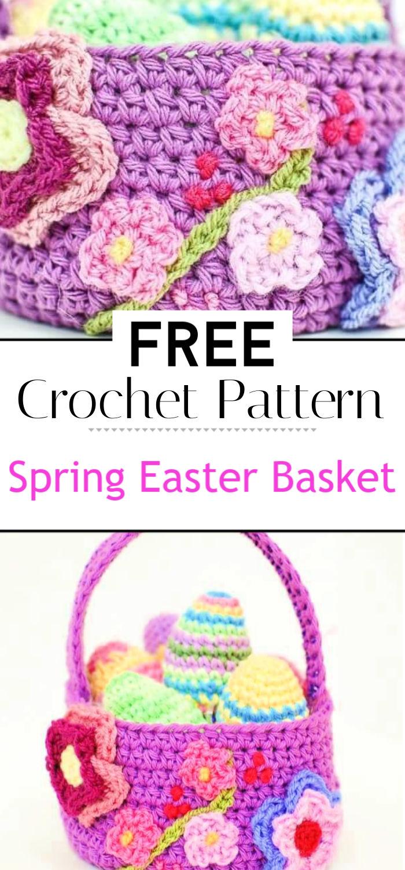 Spring Easter Basket Crochet Pattern