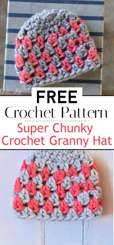Super Chunky Crochet Granny Hat Free Crochet Pattern