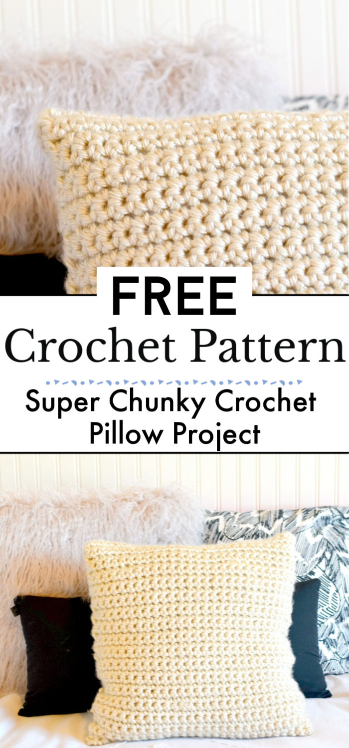 Super Chunky Crochet Pillow Project