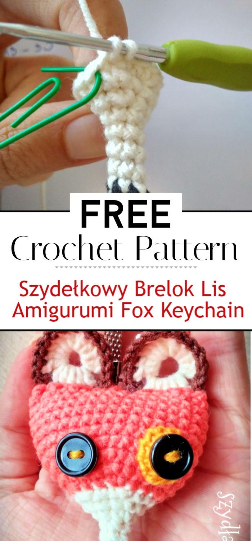 Szydełkowy Brelok Lis Amigurumi Fox Keychain