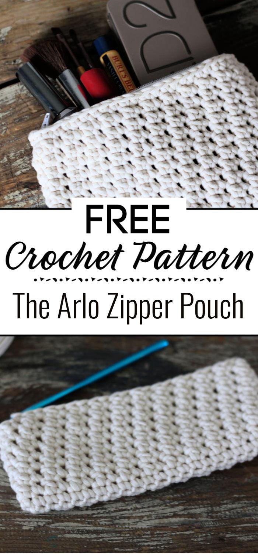 The Arlo Zipper Pouch Free Crochet Pattern
