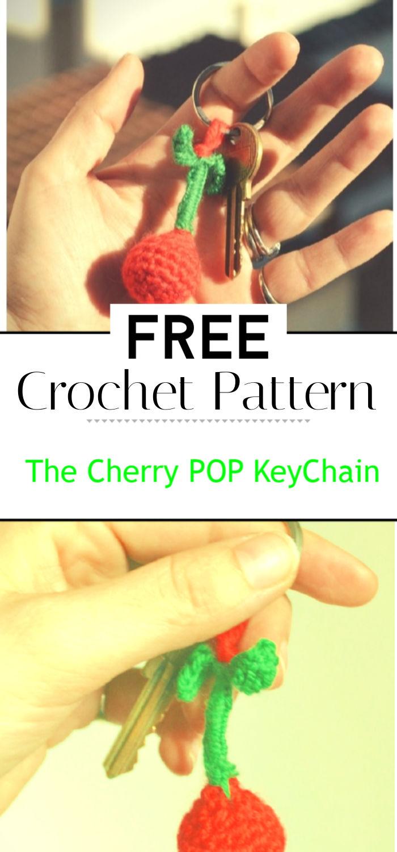 The Cherry POP KeyChain Crochet Pattern