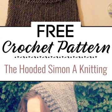 The Hooded Simon A Knitting Pattern