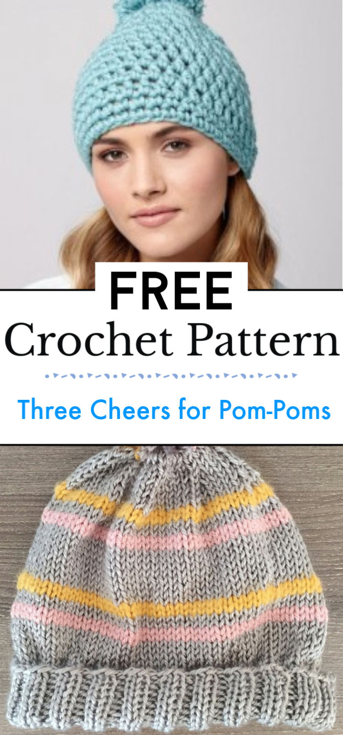 Three Cheers for Pom Poms 14 Knit and Crochet Hats