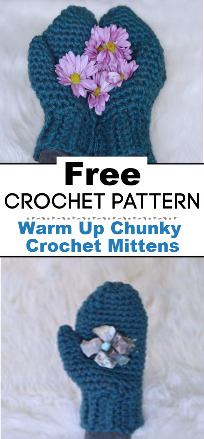 Warm Up Chunky Crochet Mittens