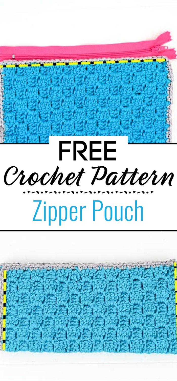 Zipper Pouch Free Crochet Pattern
