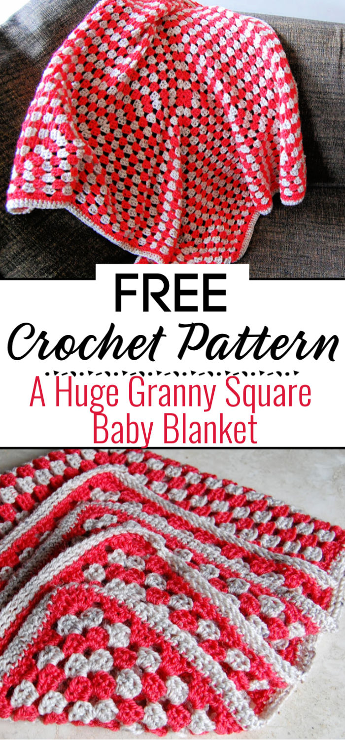 A Huge Granny Square Baby Blanket