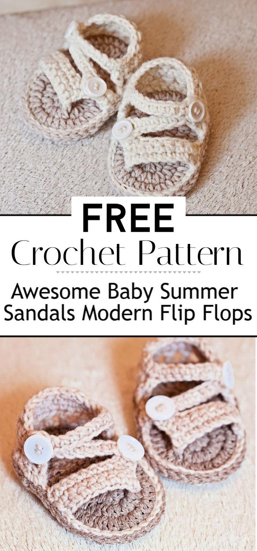 Awesome Baby Crochet Summer Sandals Modern Flip Flops