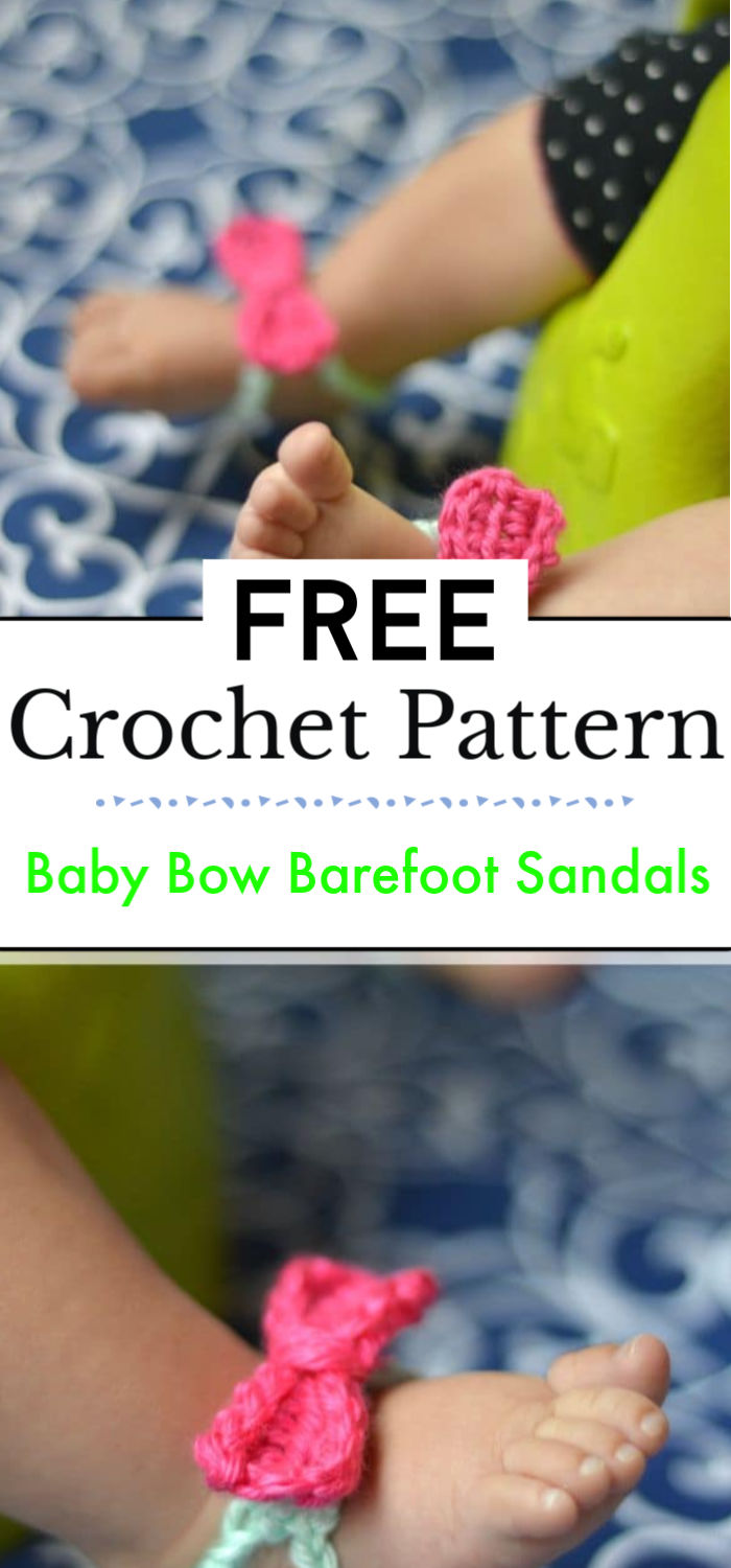 Baby Bow Barefoot Sandals