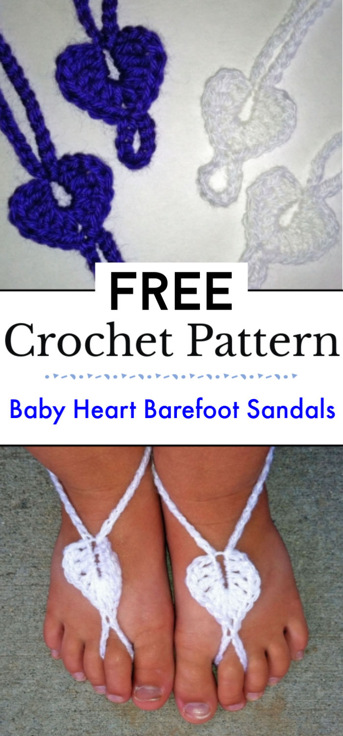 Baby Heart Barefoot Sandals
