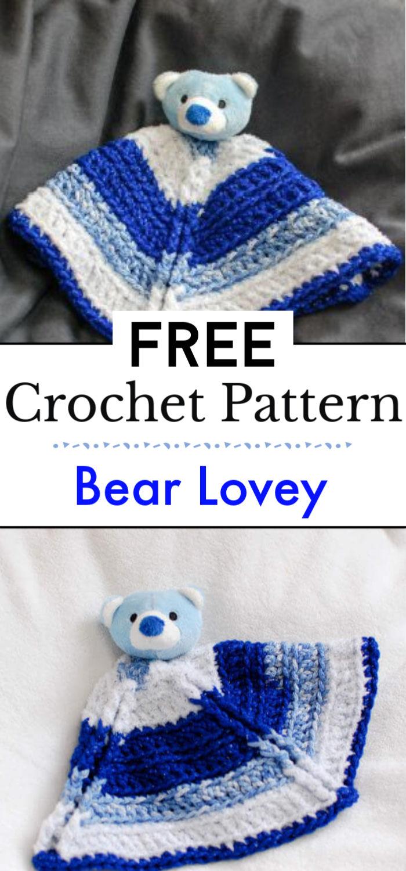 Bear Free Crochet Lovey Pattern
