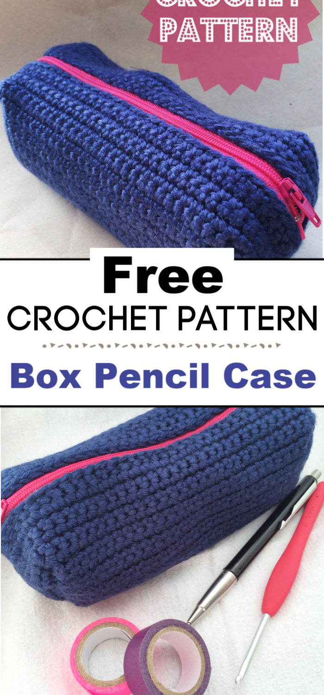 Box Pencil Case A Crochet Pattern