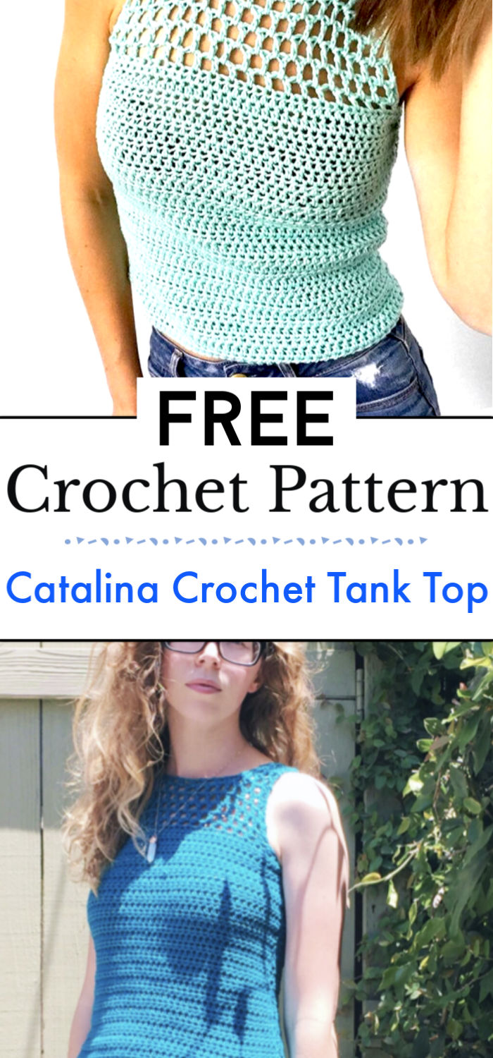 Catalina Crochet Tank Top Free Pattern