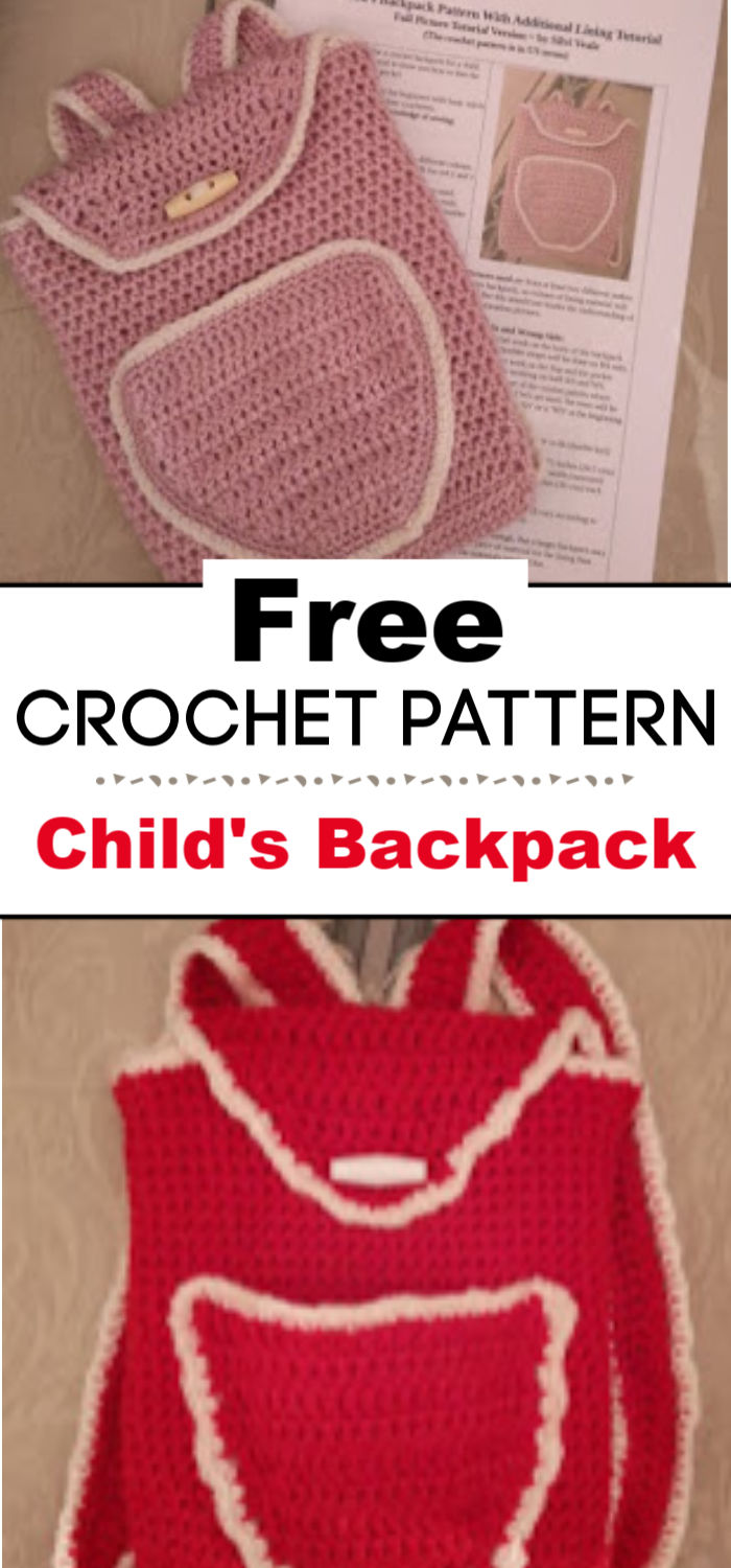 Childs Crochet Backpack Pattern