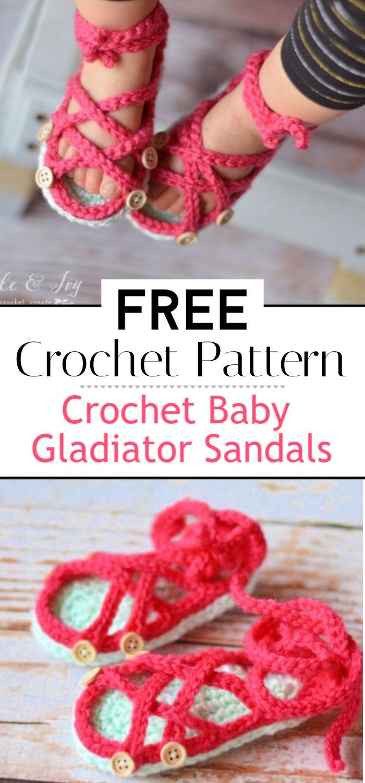 Crochet Baby Gladiator Sandals Free Crochet Pattern