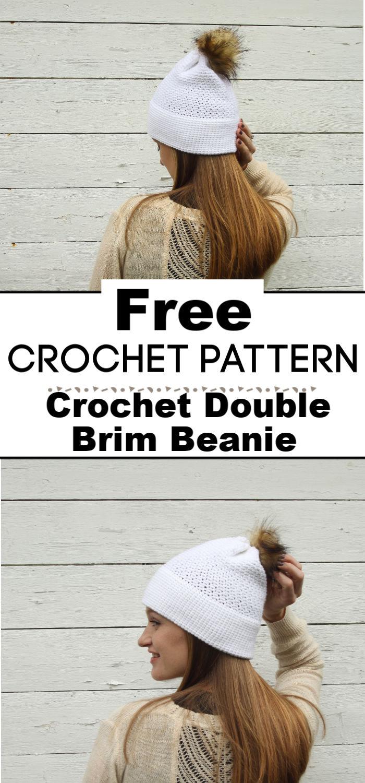 Crochet Double Brim Beanie Free Pattern
