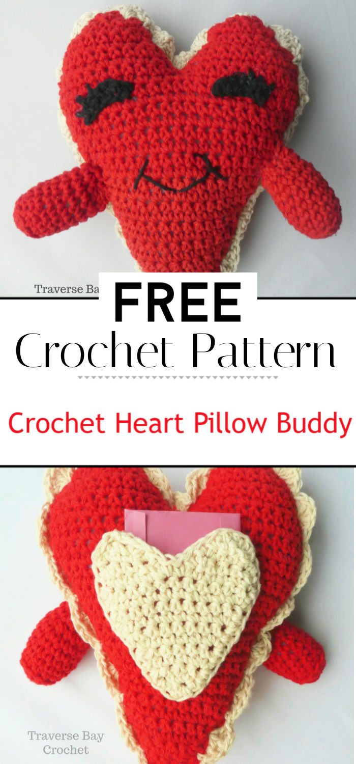 Crochet Heart Pillow Buddy