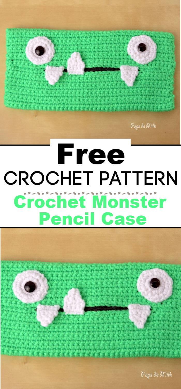 Crochet Monster Pencil Case