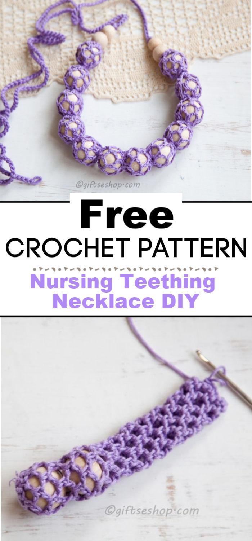 Crochet Nursing Teething Necklace DIY