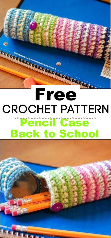Crochet Pencil Case Pattern Back to School Crochet