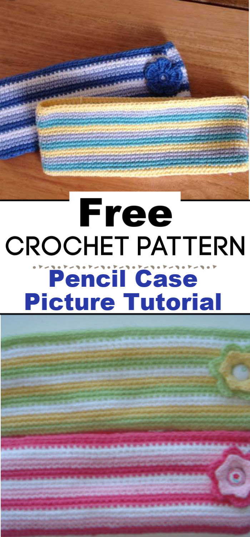 Crochet Pencil Case Picture Tutorial