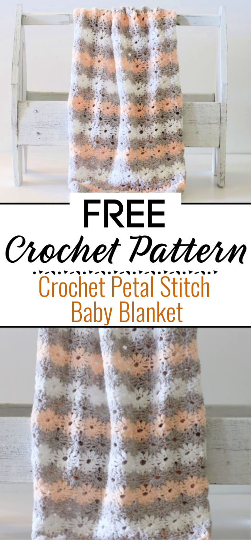 Crochet Petal Stitch Baby Blanket