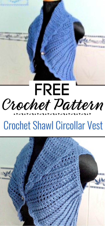Crochet Shawl Circollar Vest
