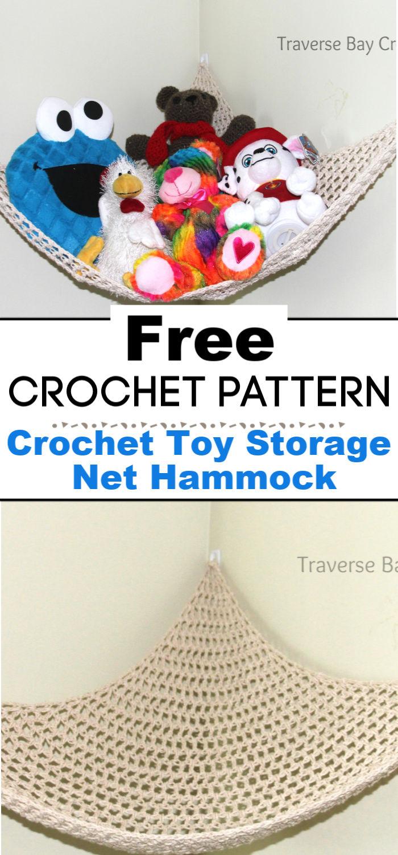 Crochet Toy Storage Net Hammock