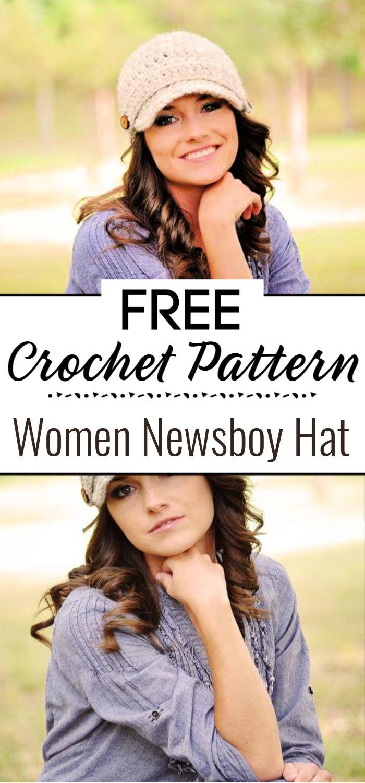 Crochet Women Newsboy Hat Pattern