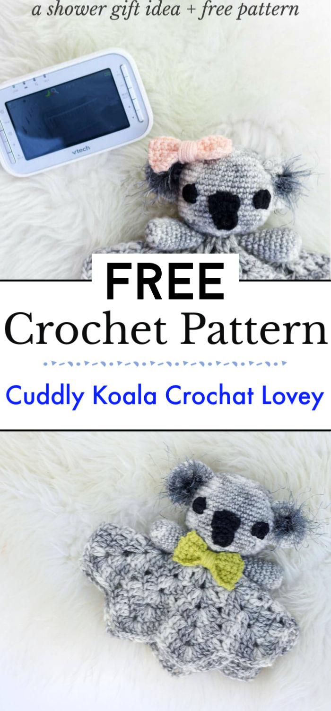Cuddly Koala Free Crochat Lovey Pattern