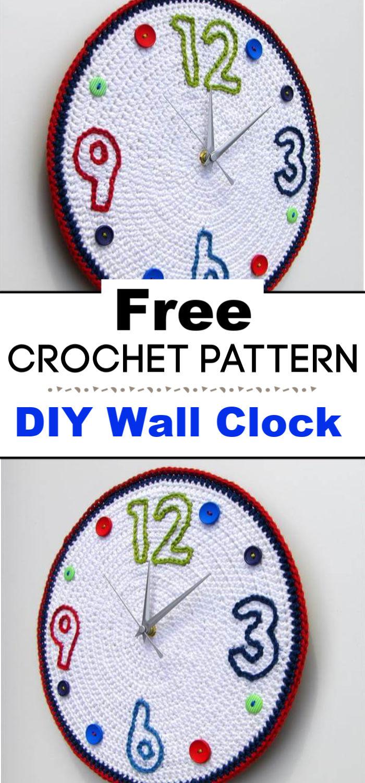 DIY Crochet Wall Clock Pattern
