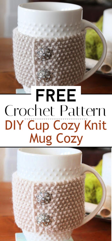 DIY Cup Cozy Knit Mug Cozy Tutorial