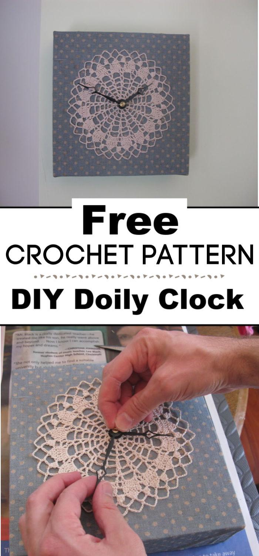 DIY Doily Clock Tutorial