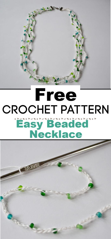 Easy Beaded Crochet Necklace Tutorial