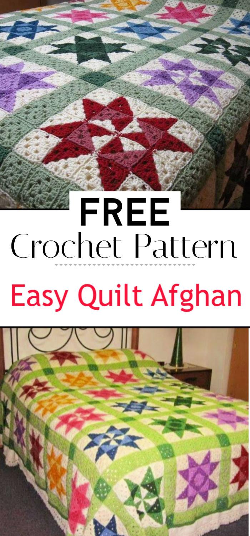 Easy Crochet Quilt Afghan Pattern