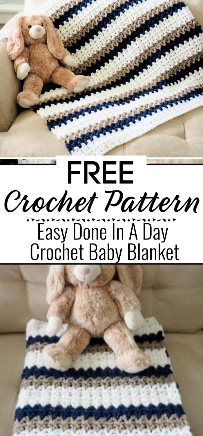 Easy Done In A Day Crochet Baby Blanket