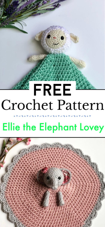 Ellie the Elephant Lovey Free Pattern