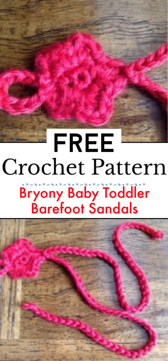 Free Pattern Bryony Baby Toddler Barefoot Sandals