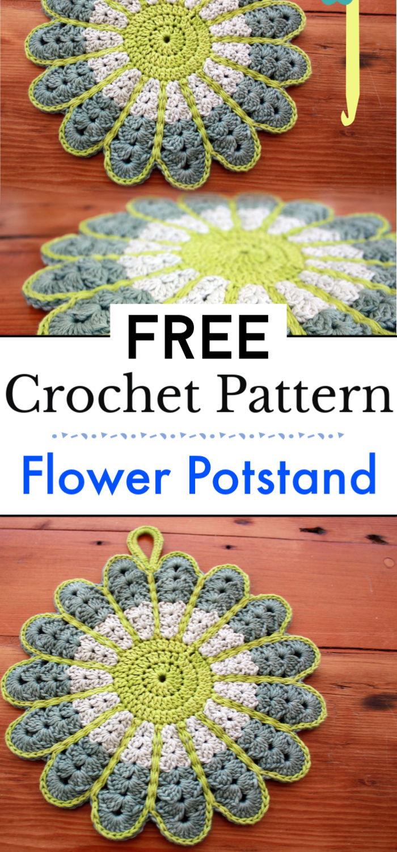Free Pattern Crochet Flower Potstand
