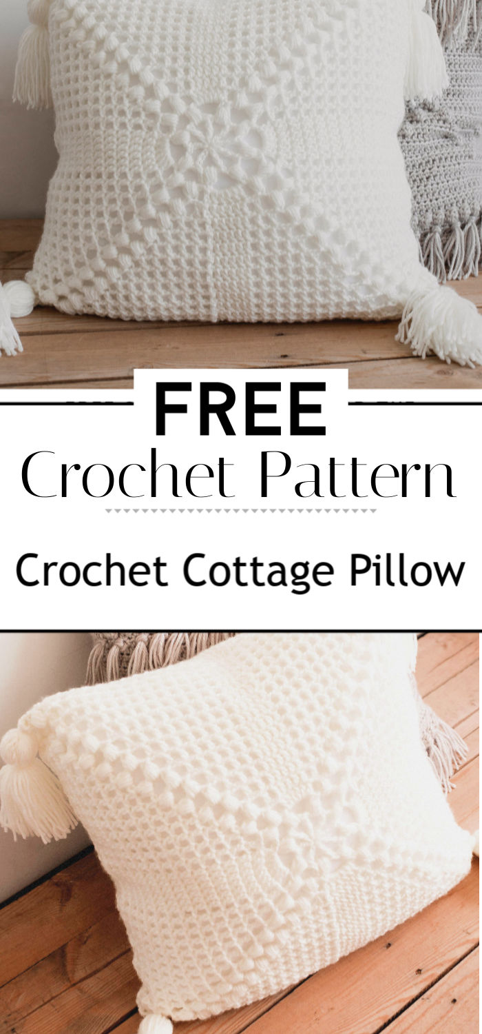 Free Pattern for the Crochet Cottage Pillow