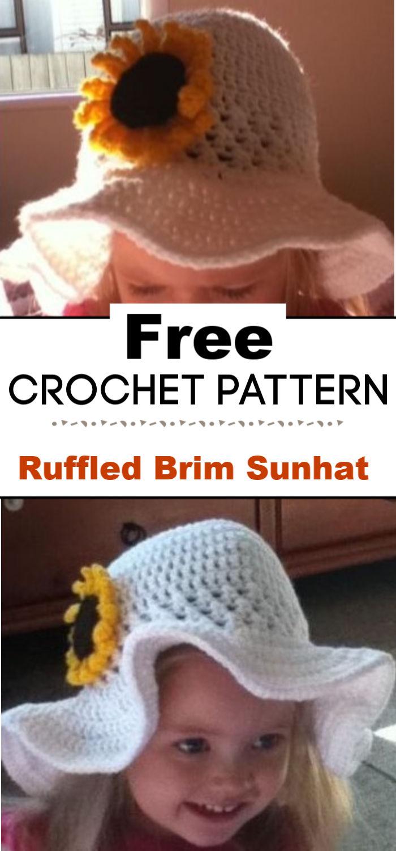 Free Ruffled Brim Sunhat Pattern