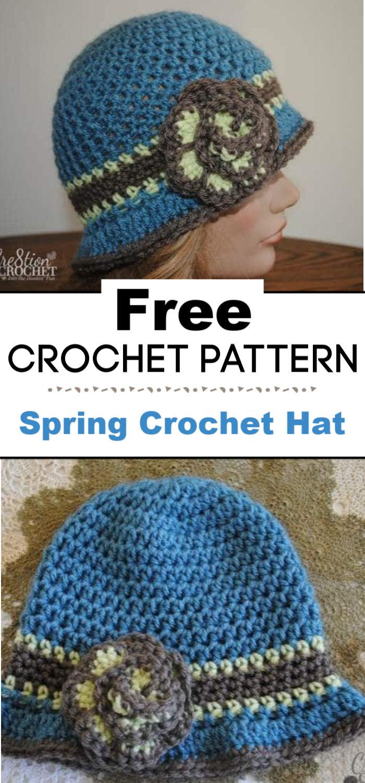 Free Spring Crochet Hat Pattern
