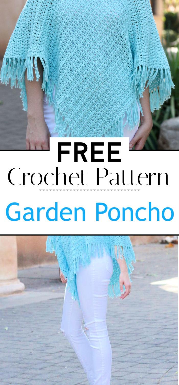 Garden Poncho Free Crochet Pattern