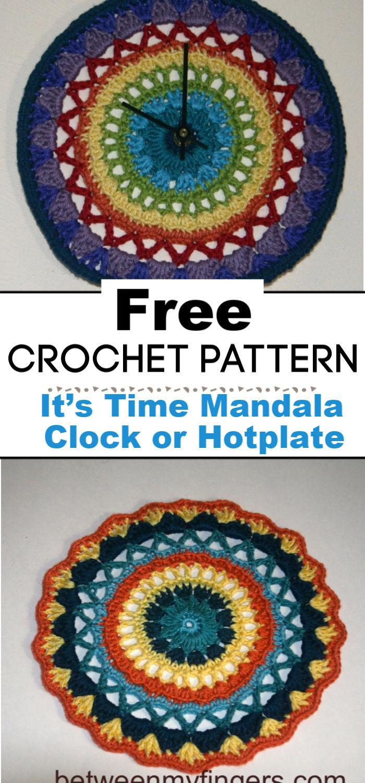 It's Crochet Time Mandala Clock or Hotplate