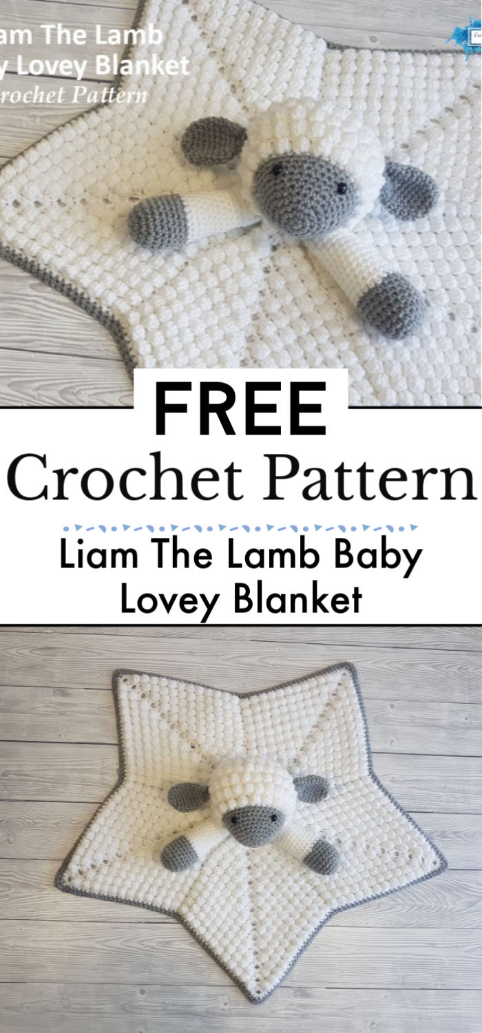 Liam The Lamb Baby Lovey Blanket