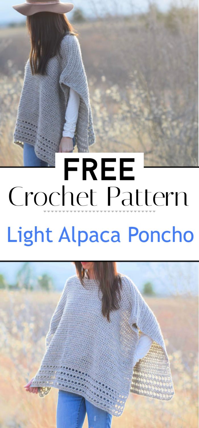 Light Alpaca Poncho Crochet Pattern