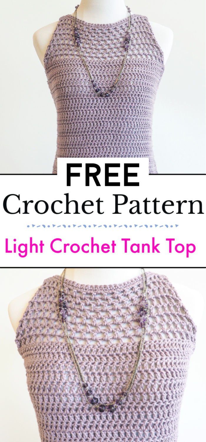 Light Crochet Tank Top Pattern
